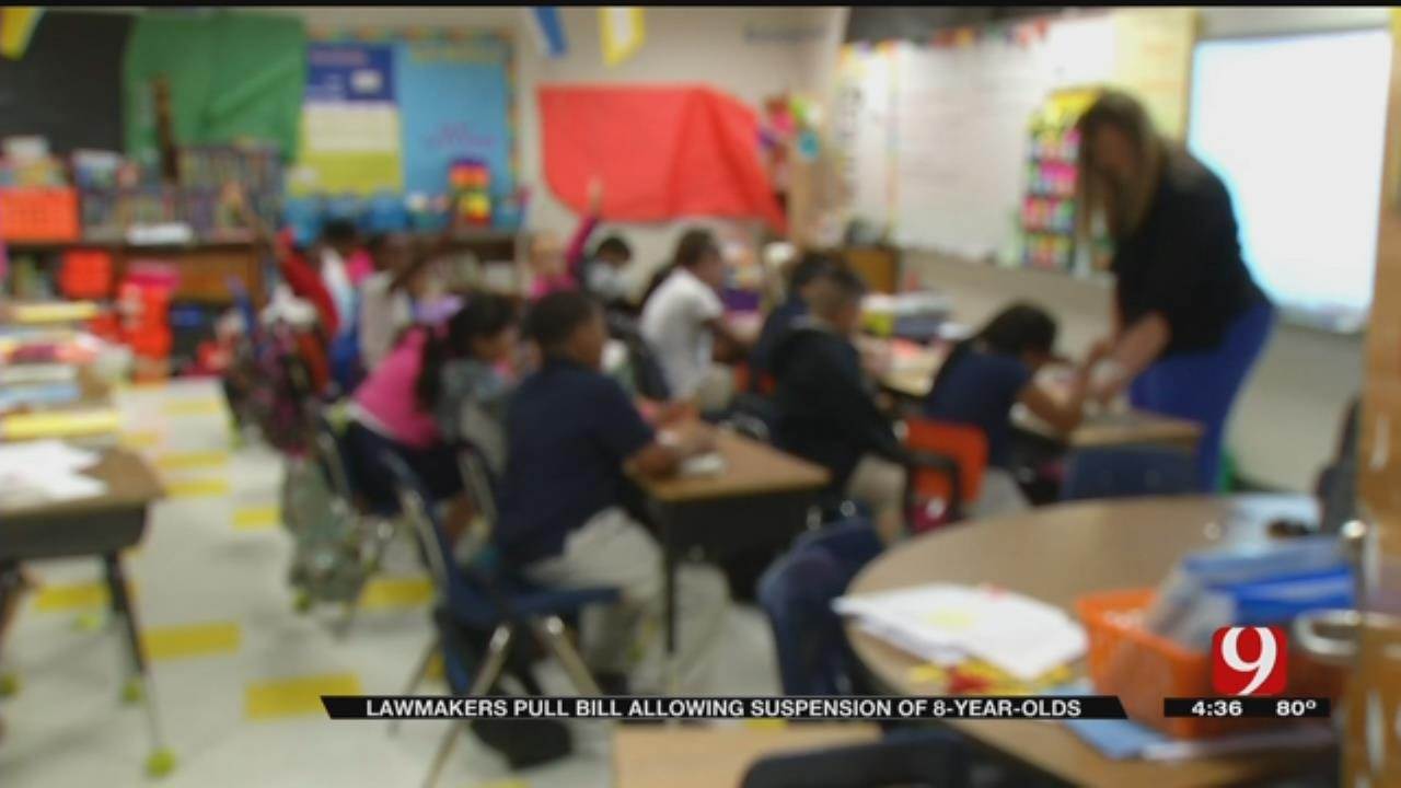 OK Lawmakers Pull Bill Allowing Suspension Of 8-Year-Olds
