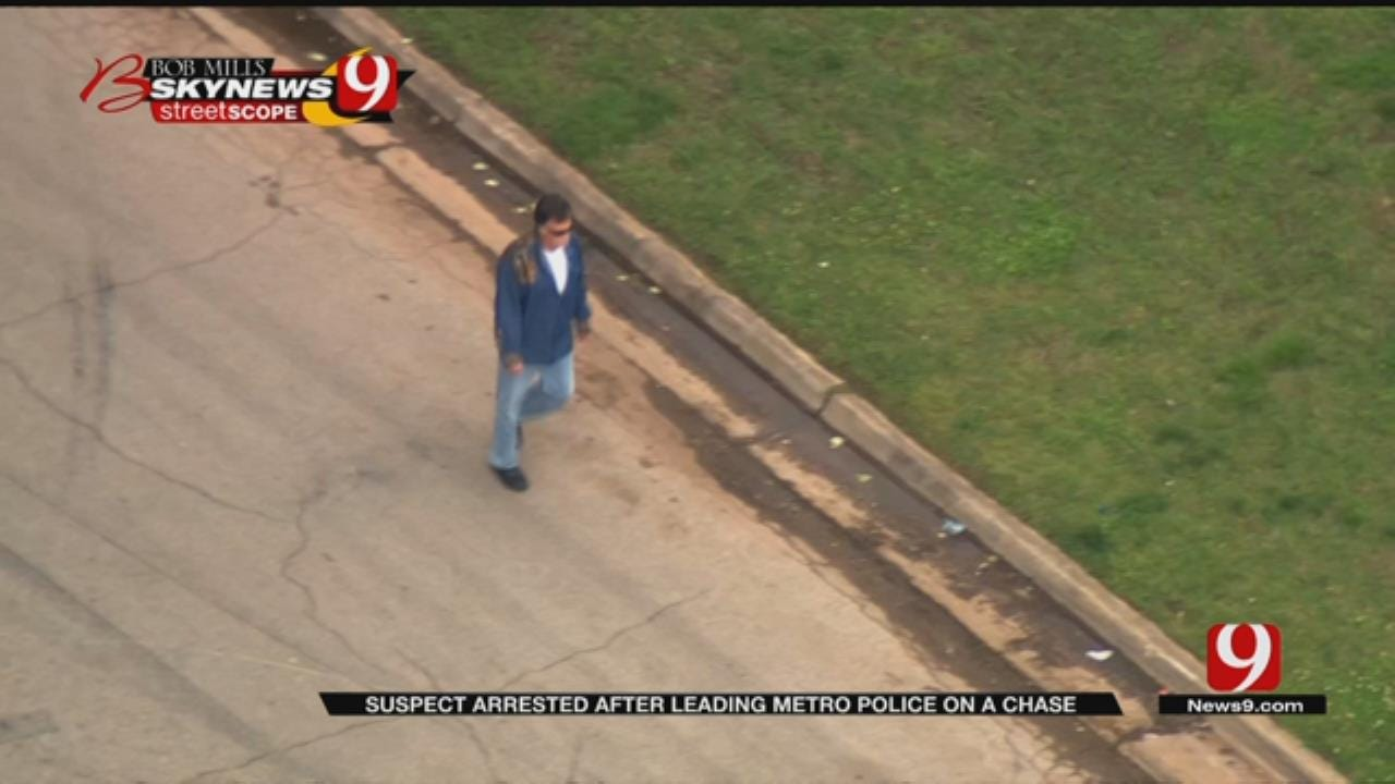 Man Arrested After Police Chase, Scuffle With Police Officer