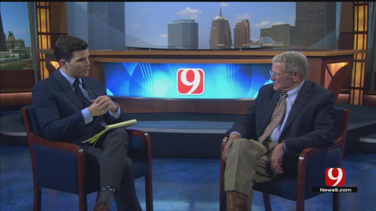 Inhofe Sits To Talk Defense Spending And Budget Cuts