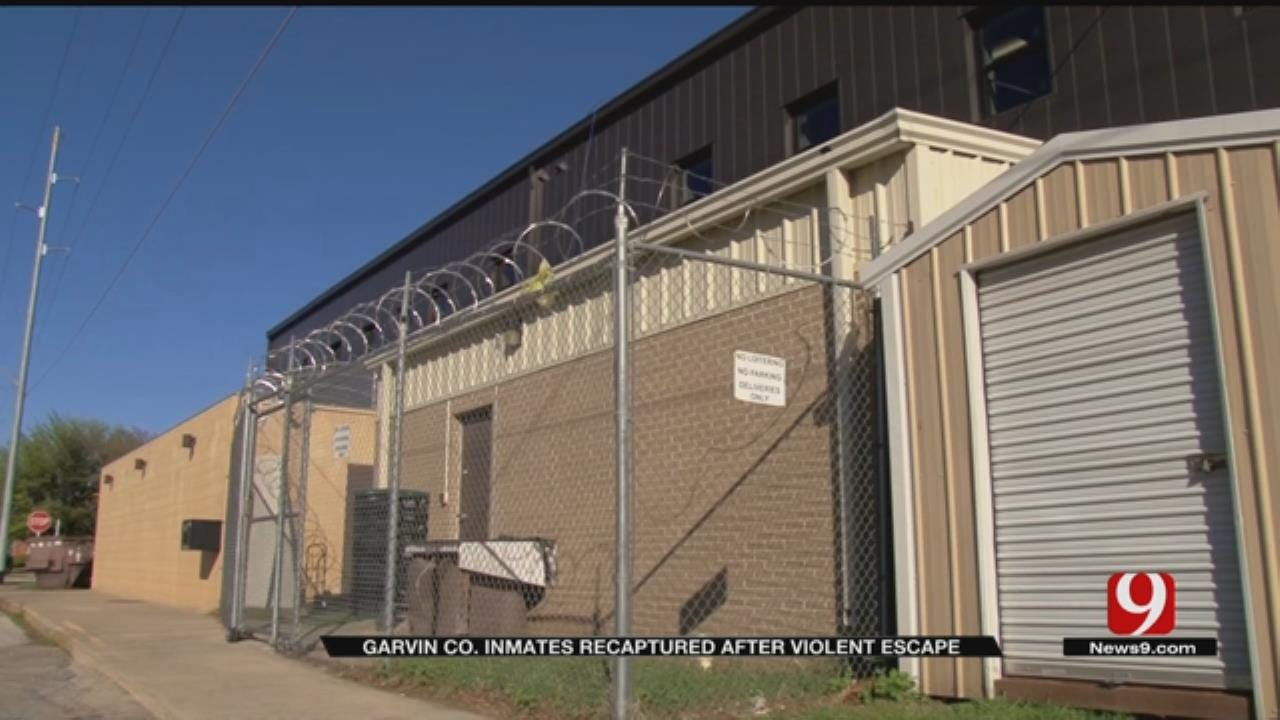Garvin County Inmates Recaptured After Violent Escape