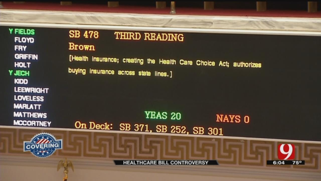 Bill Could Allow Insurance Companies To Not Meet OK State Mandates