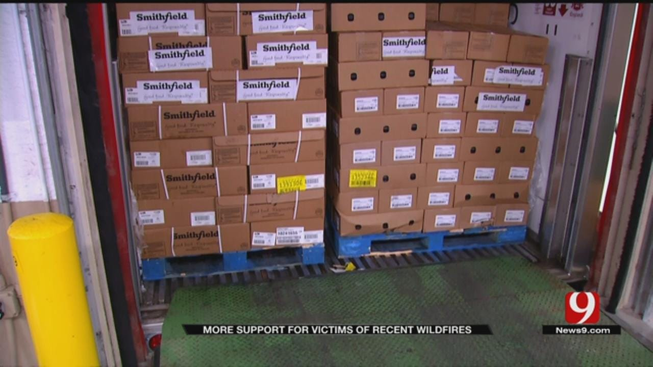 Thousands Of Pounds Of Food Donated To Aid NW OK Wildfire Victims