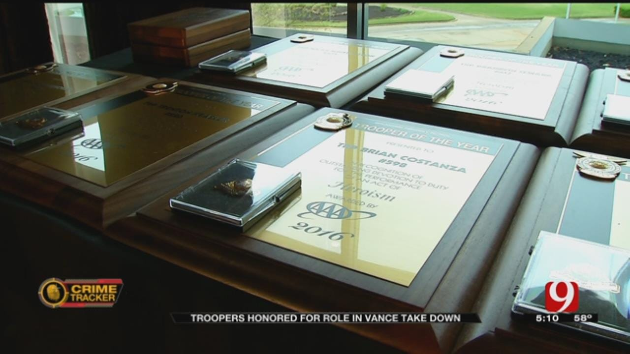 Troopers Honored For Role In Michael Vance Take Down