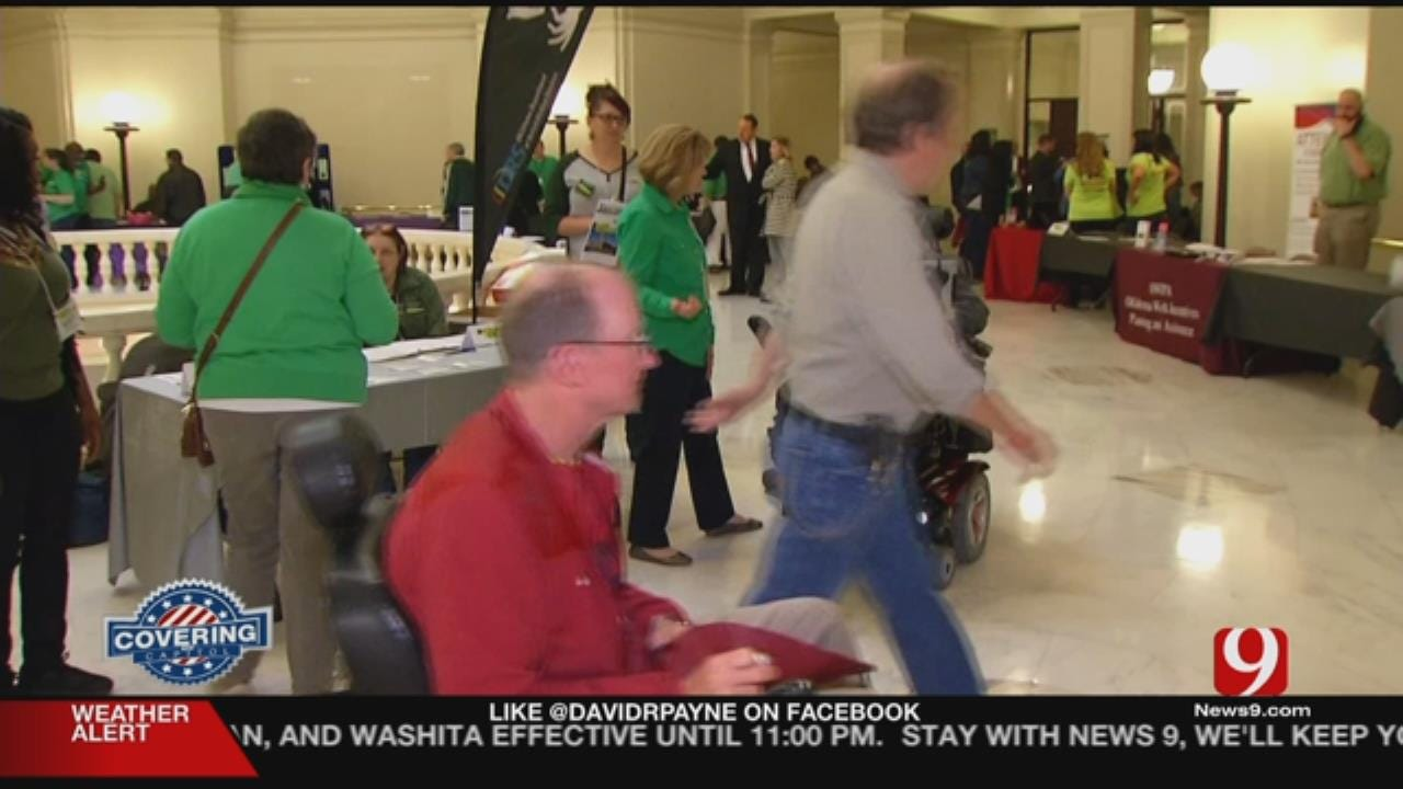 Disabled Oklahomans, Advocates Meet Legislators At Capitol