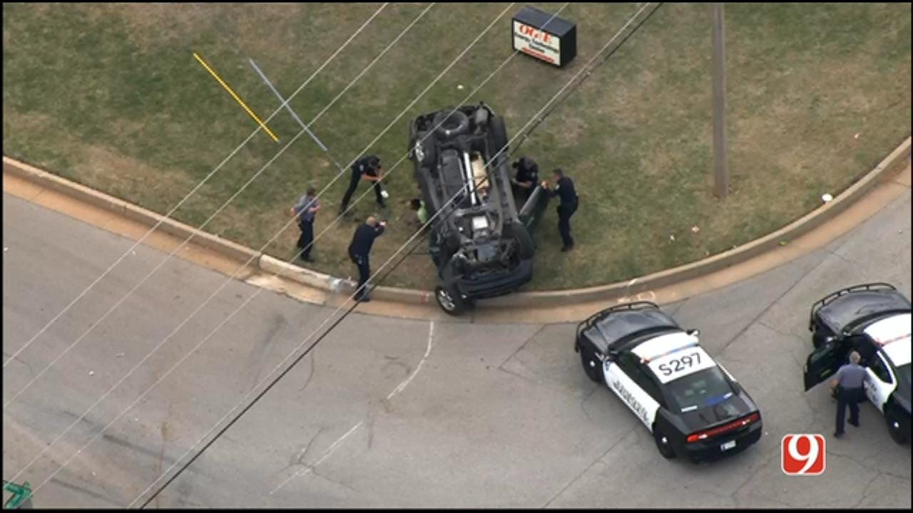 WEB EXTRA: Police Chase Ends In NE OKC