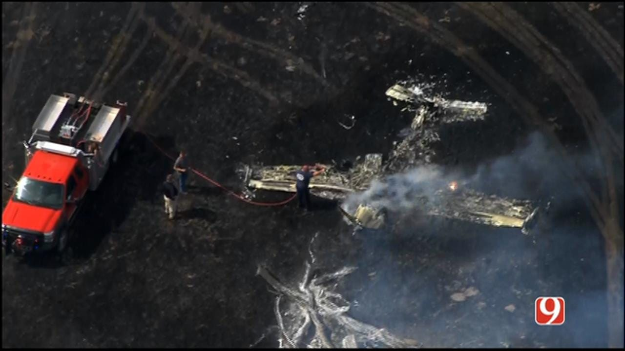 WEB EXTRA: Fatal Plane Crash Sparks Wildfire Near Union City