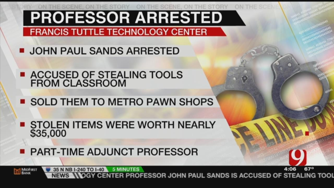 OKC Man Arrested For Stealing, Pawning Tools Stolen From Tech Center
