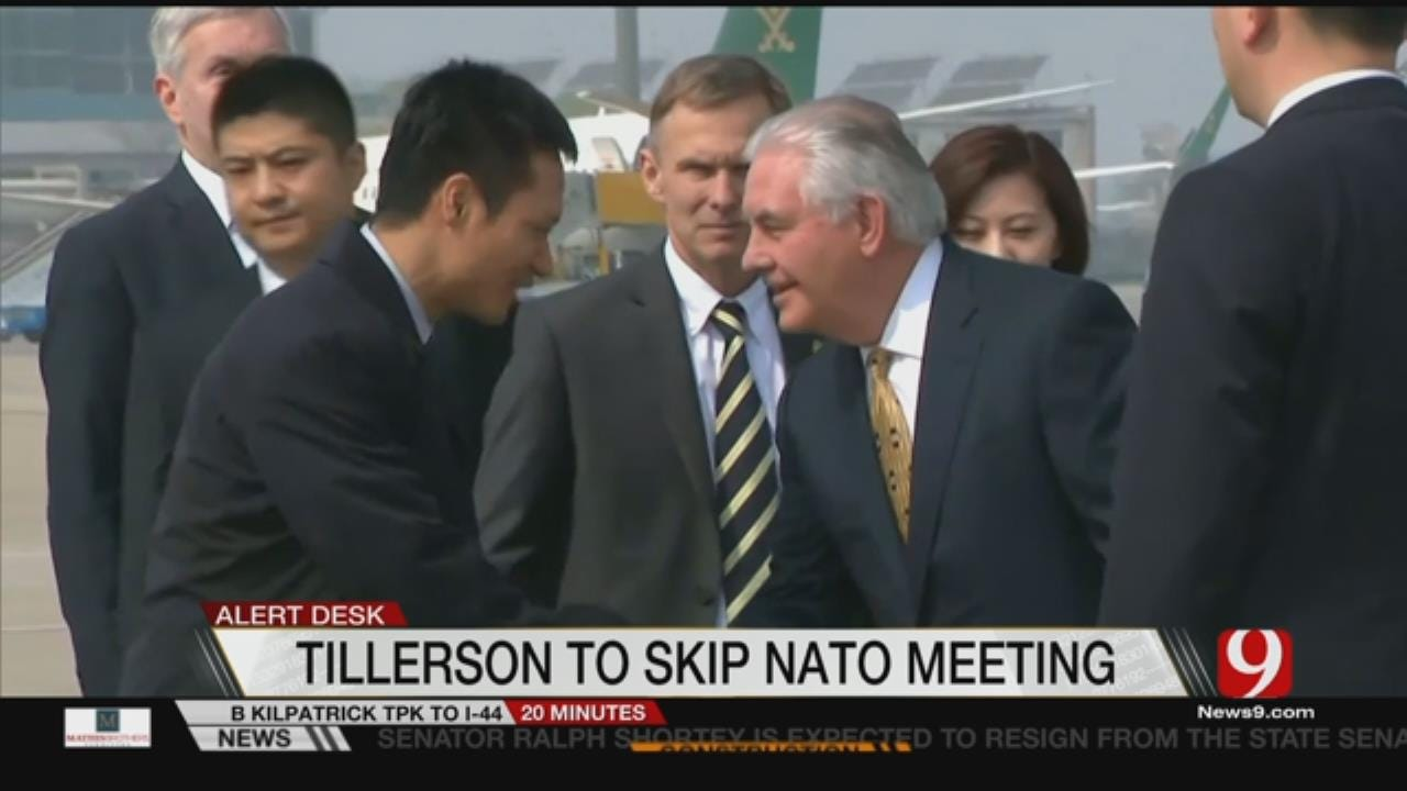 Tillerson To Skip Meeting Of NATO Foreign Ministers