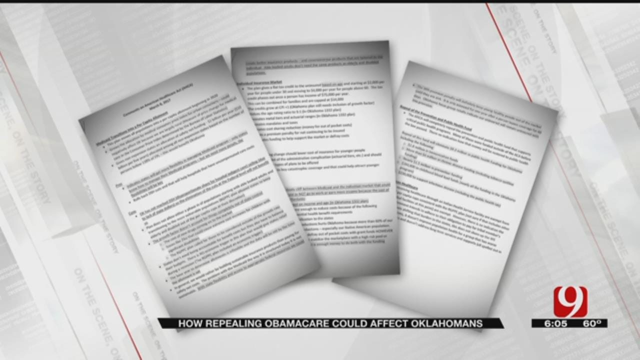 Memo To Gov. Outlines Impact Of American Healthcare Act For Oklahomans