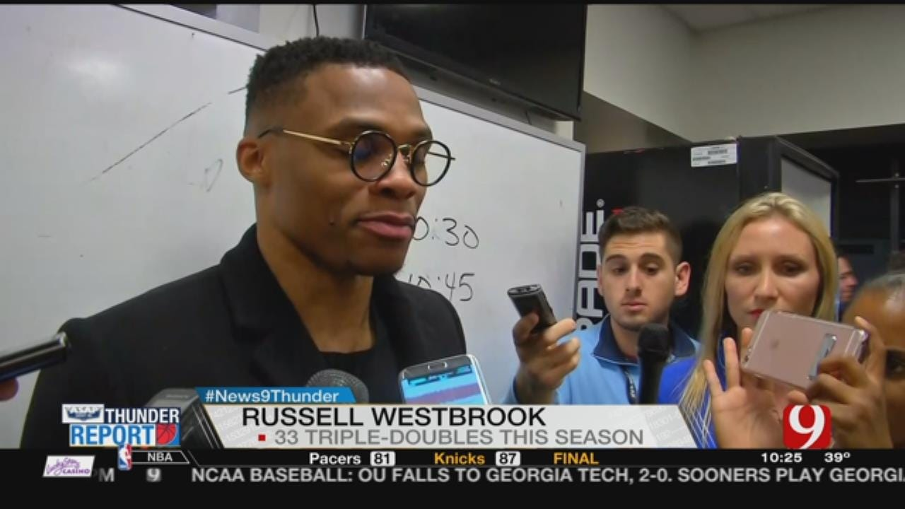 Brooklyn's Finest: Westbrook's 33rd Triple-Double Lifts Thunder Past Nets