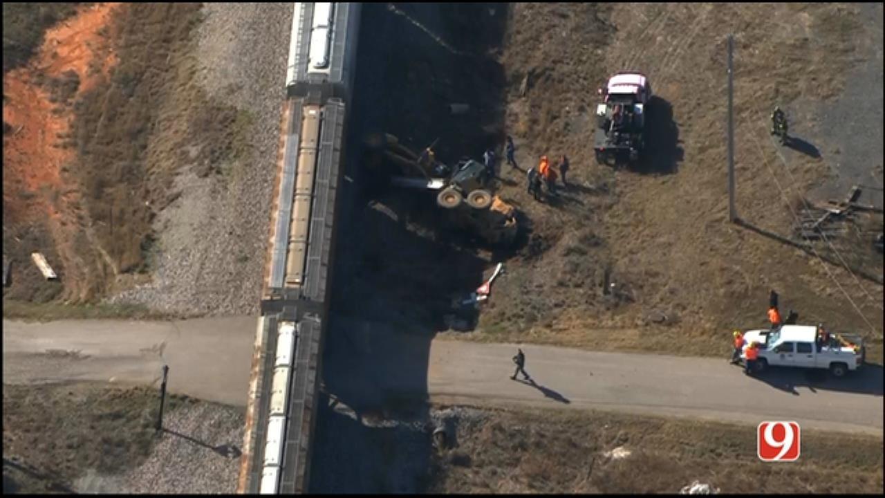 Road Grader Collides With Train In Pocasset