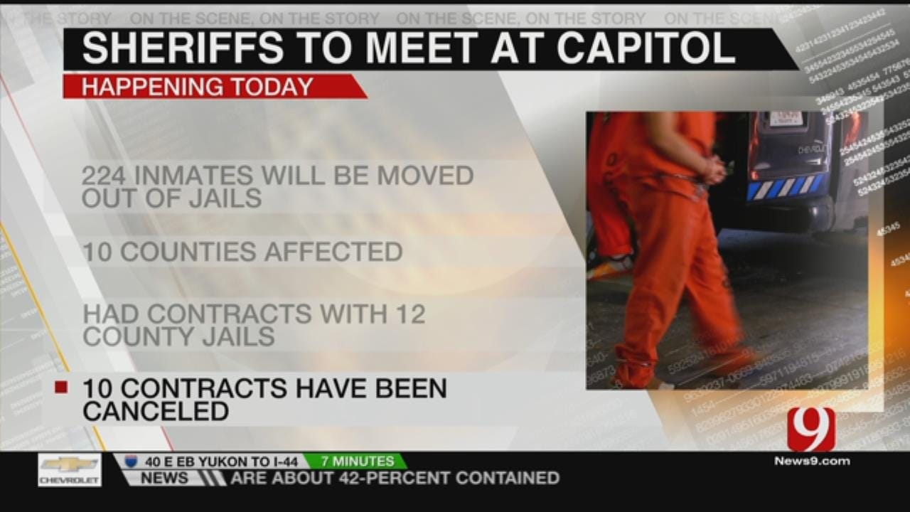 Sheriff's Gather At Capitol To Talk DOC Budget Cuts