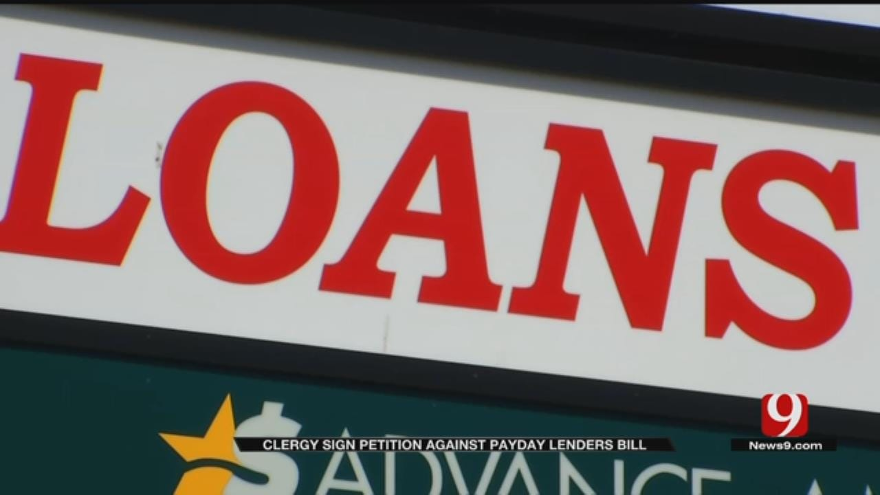 Oklahoma Clergy Members Sign Petition Against Payday Loan Bill