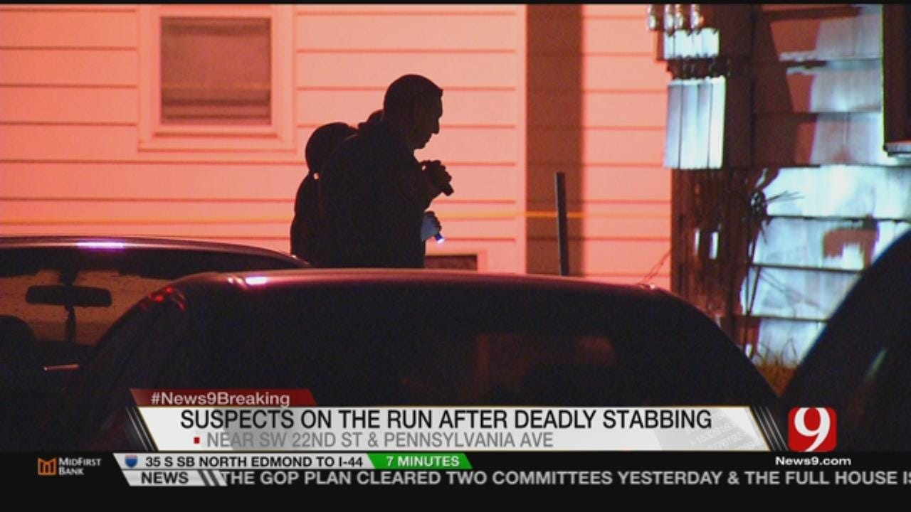 Stabbing In SW OKC Leaves One Dead, Police Still Looking For Two Suspects