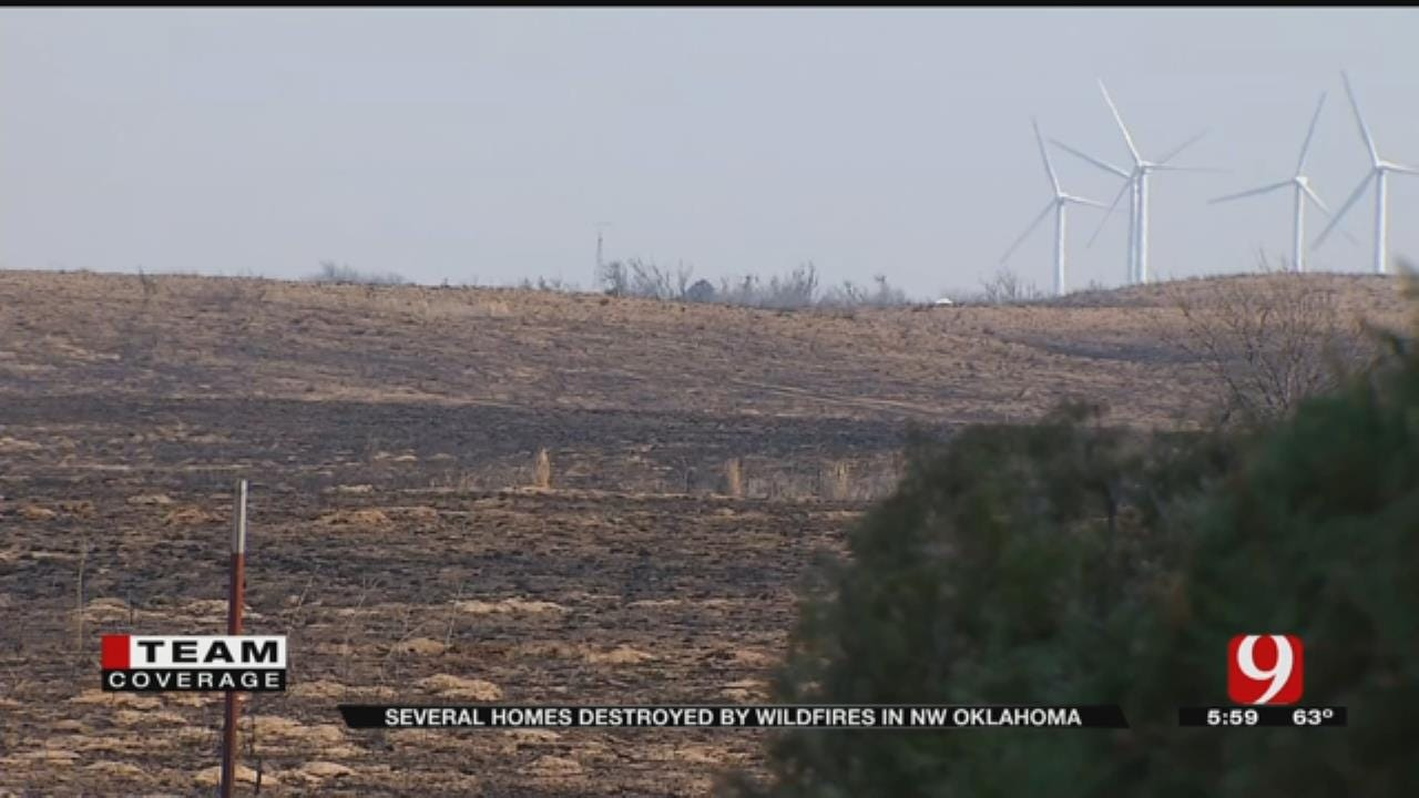Several Homes Destroyed By NW OK Wildfires