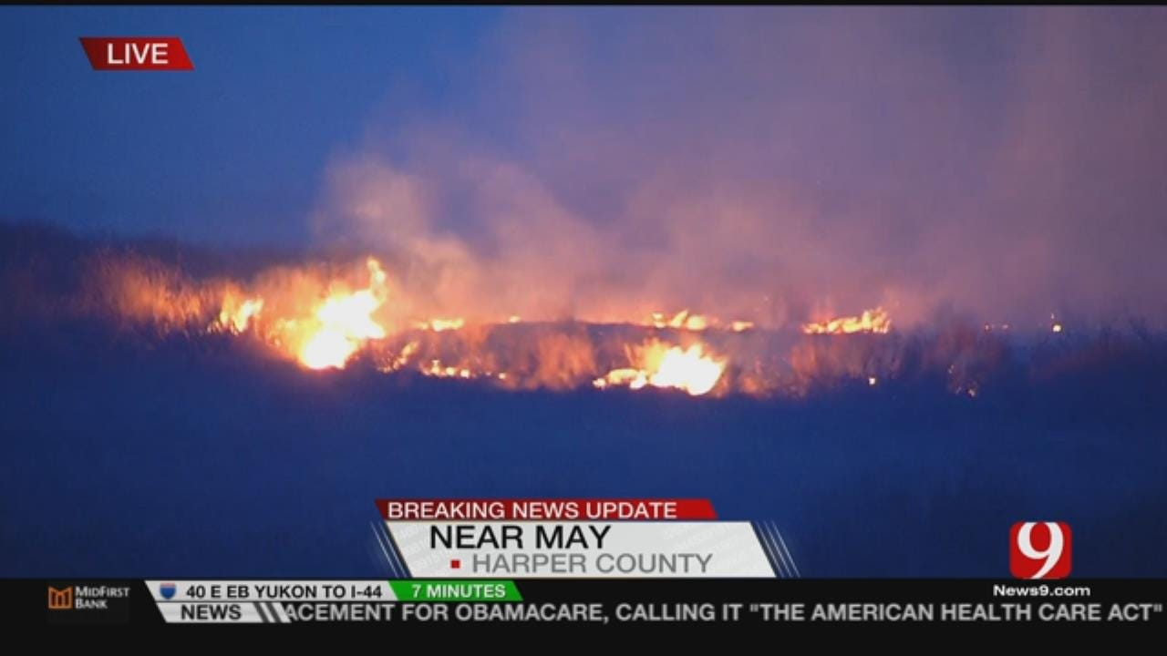 Crews Continue To Fight NW OK Wildfires