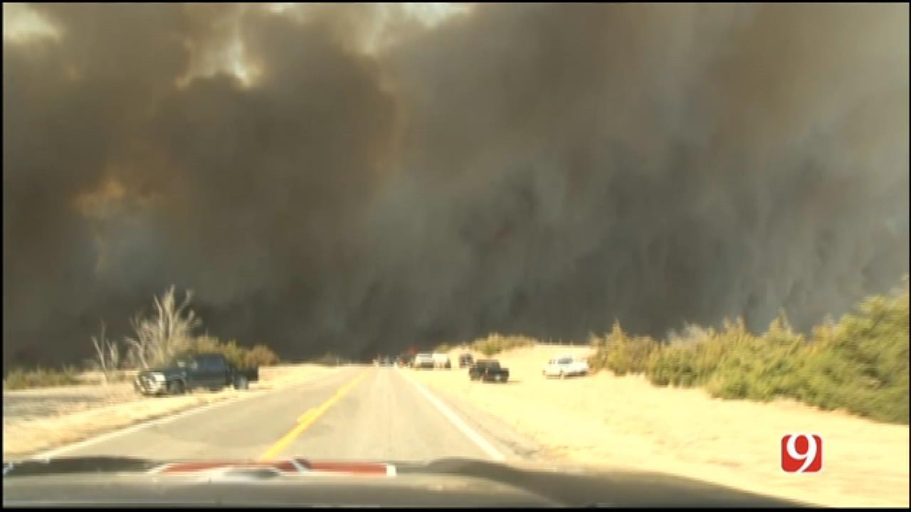 WEB EXTRA: StormTracker Marty Logan Follows NW OK Wildfires