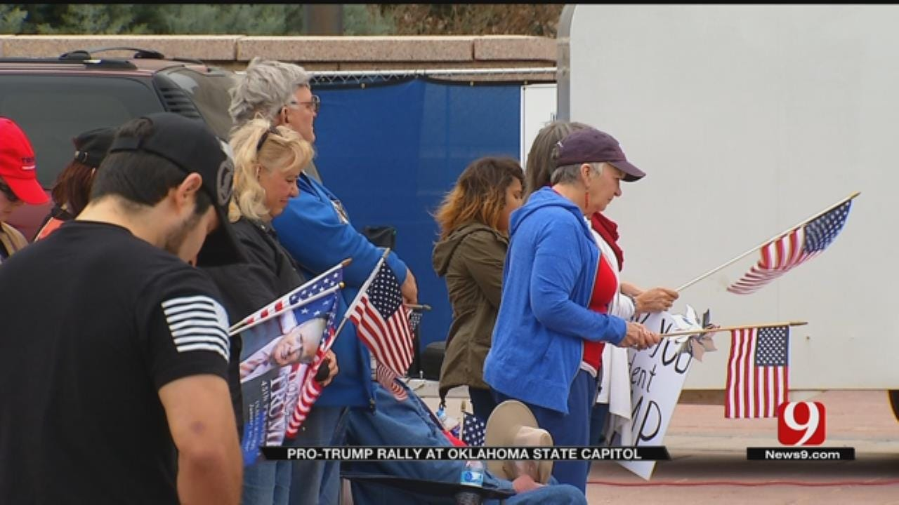 Hundreds Gathered At State Capitol To Support President Trump