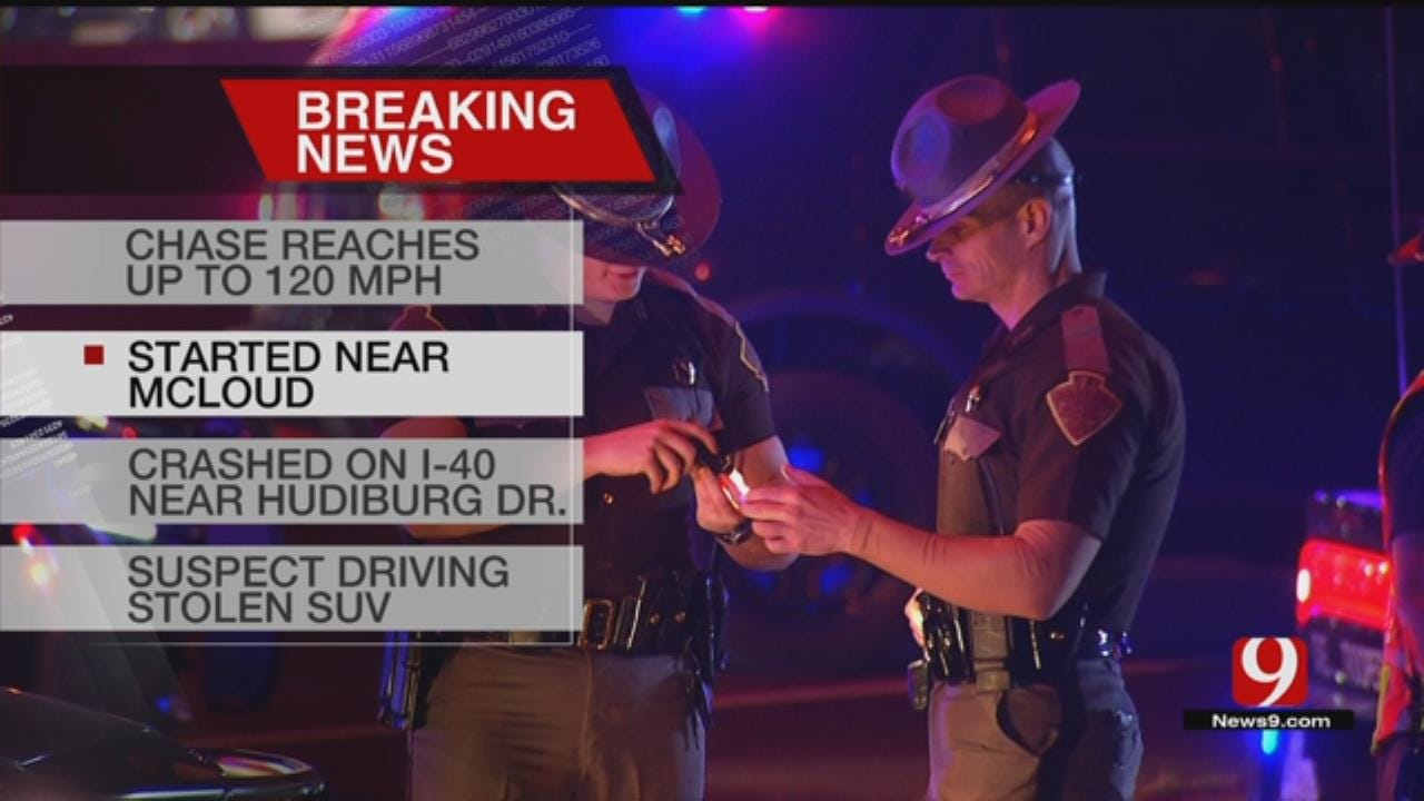 Police Chase Ends In Midwest City After Driver Crashes