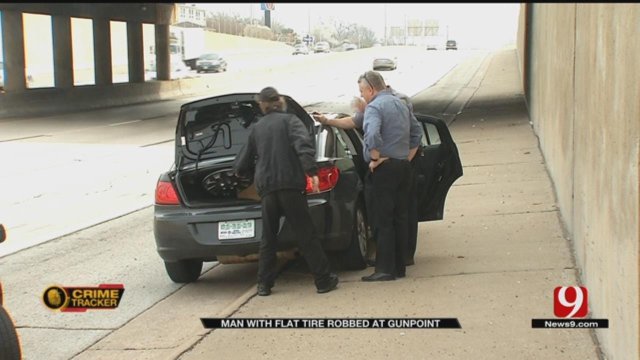 Man Changing Flat Tire Robbed At Gunpoint In NW OKC