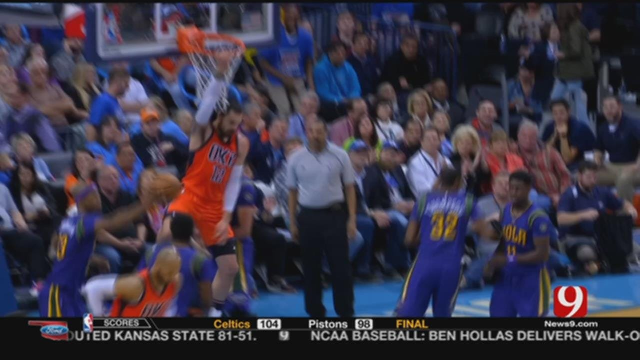 Steve McGehee Wraps Up Thunder Win Over Pelicans