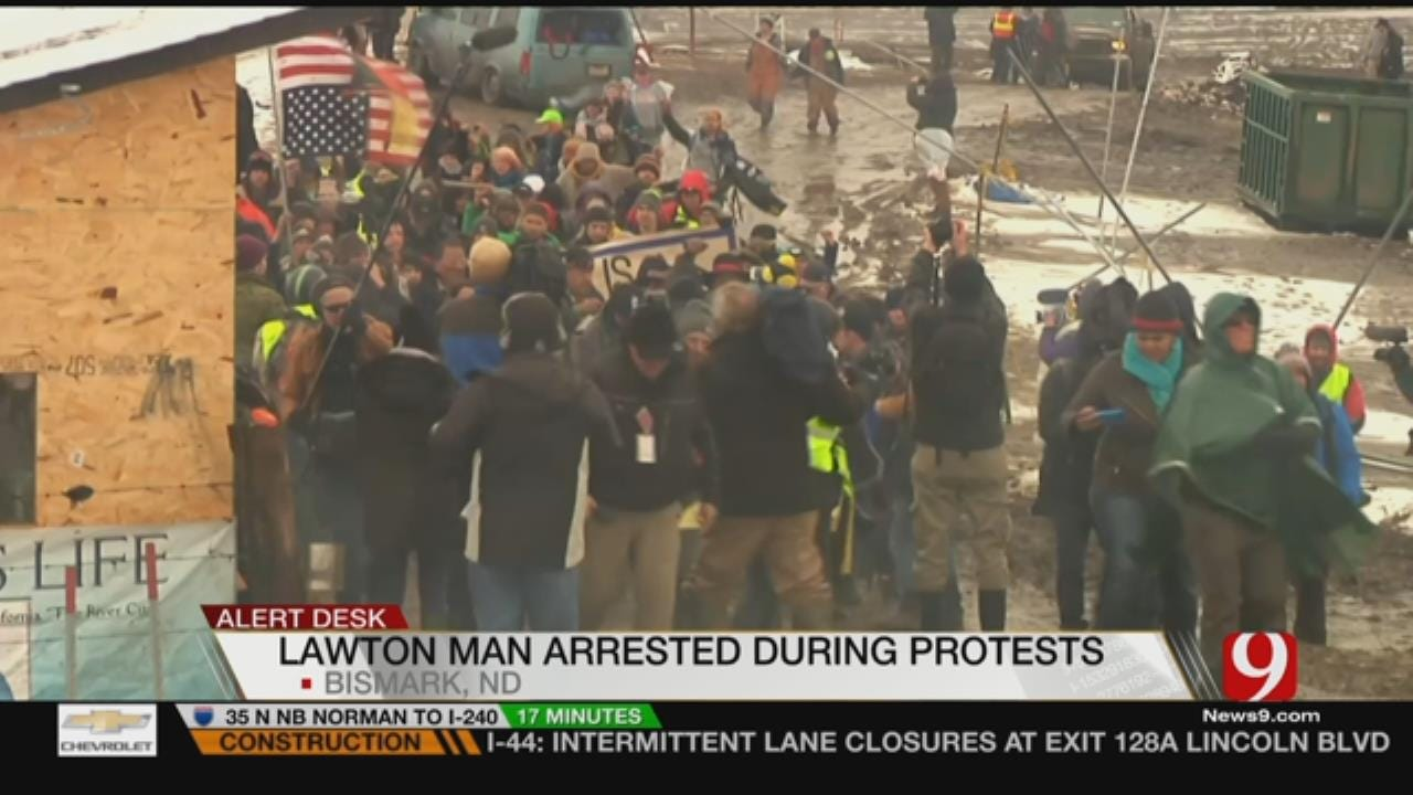 Lawton Man Arrested At Dakota Access Pipeline Debate