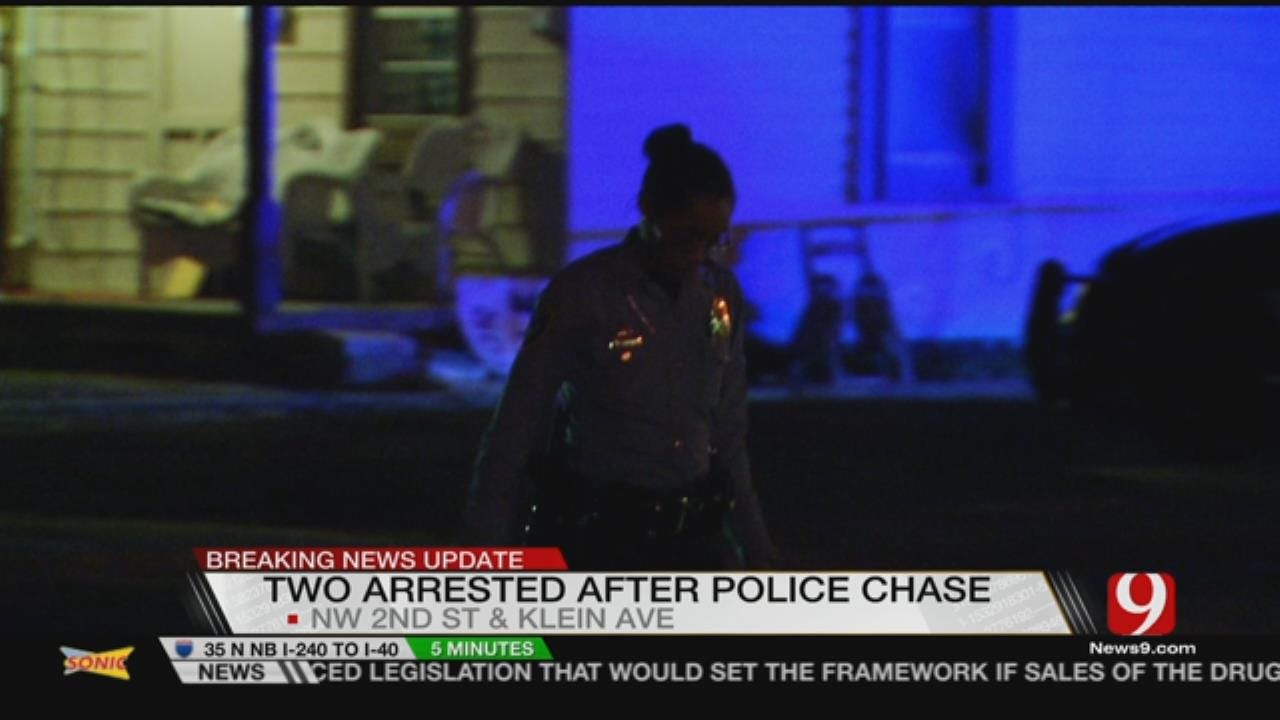 Two Detained After Police Chase Zigzags Across NW OKC, Near I-40