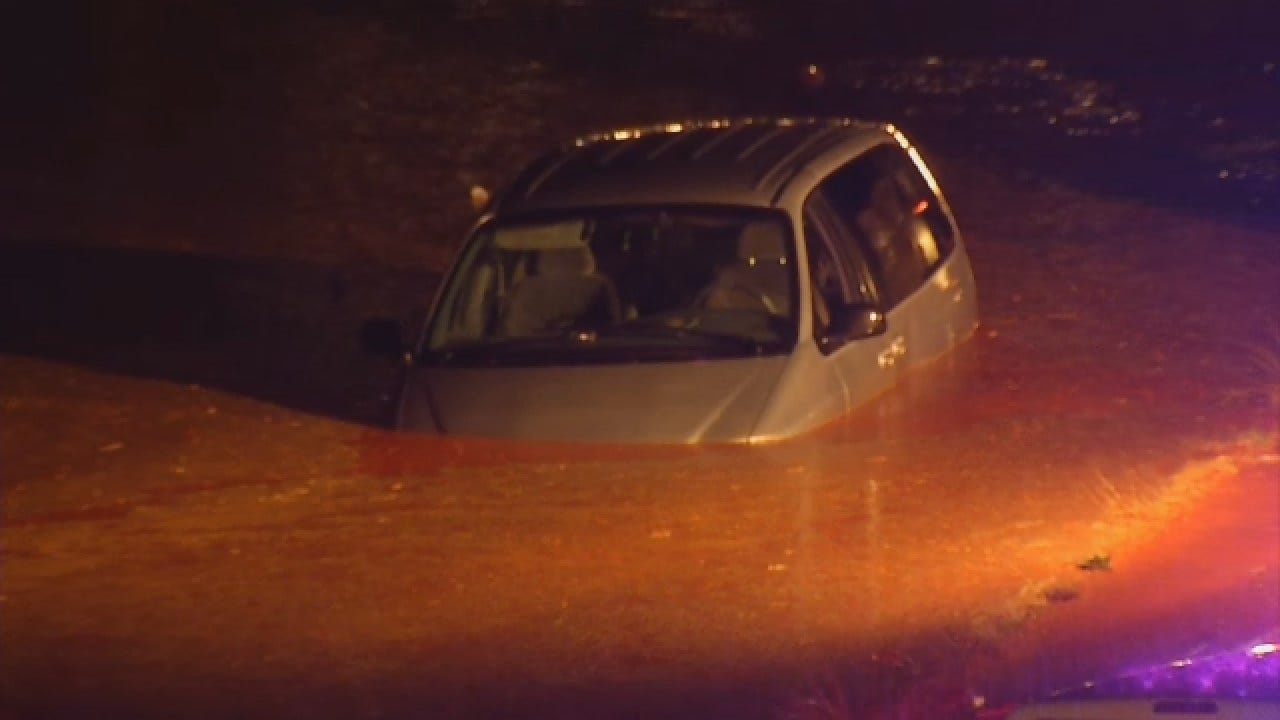 WEB EXTRA: Emergency Crews Rescue Man From Submerged Vehicle