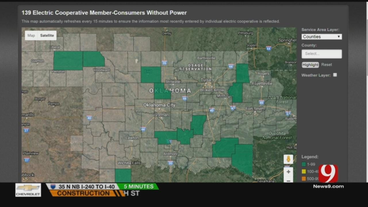 Power Outages Reported As Storms Went Through OKC Metro
