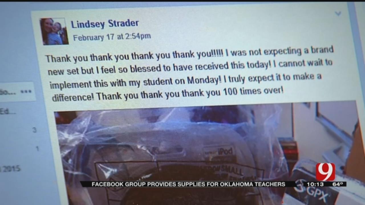 Edmond Woman Uses Social Media To Help Oklahoma Teachers
