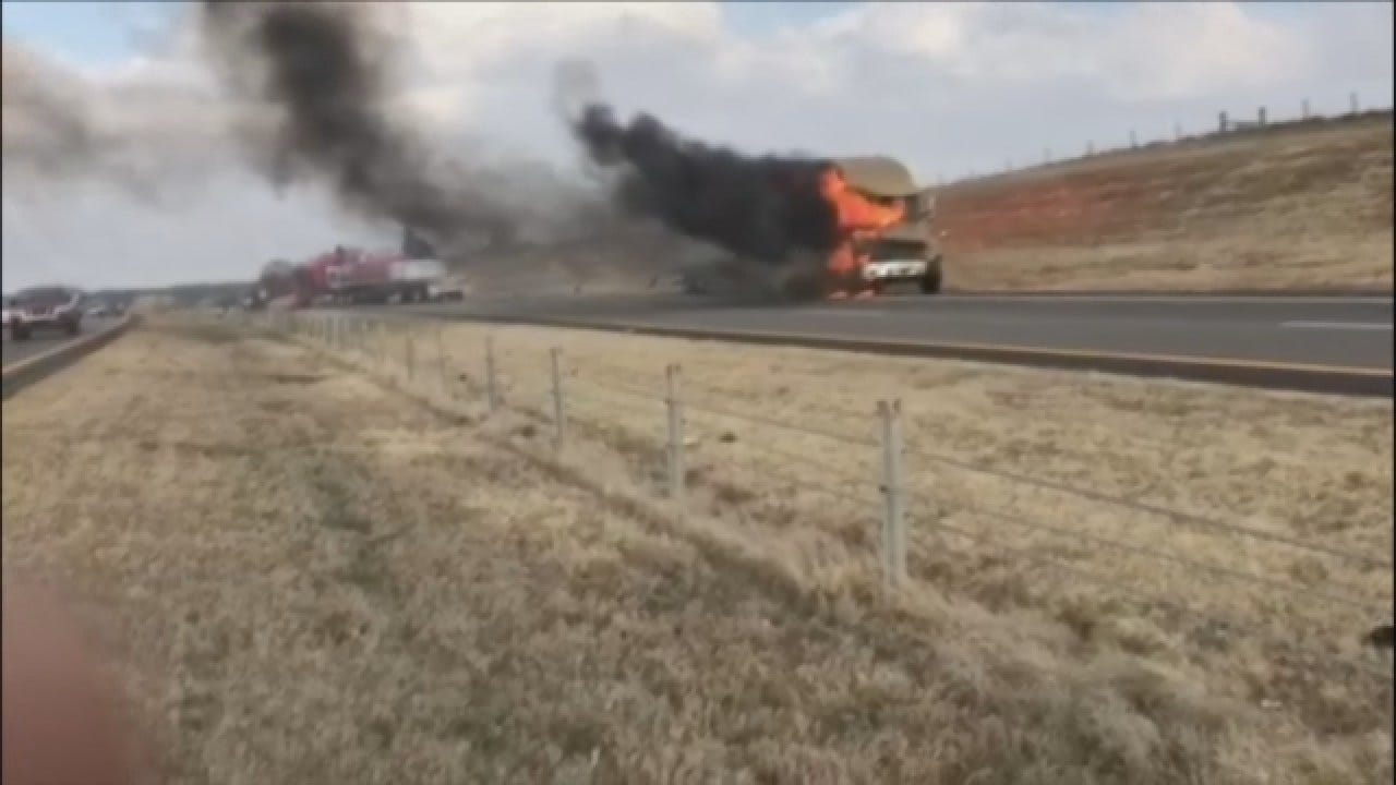 WEB EXTRA: Injury Crash Prompts Closures On I-35 Near Guthrie