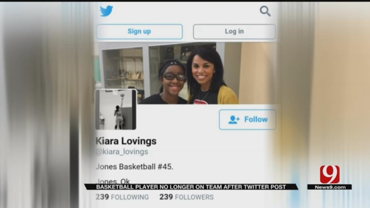 Jones Basketball Player No Longer On Team After Twitter Post