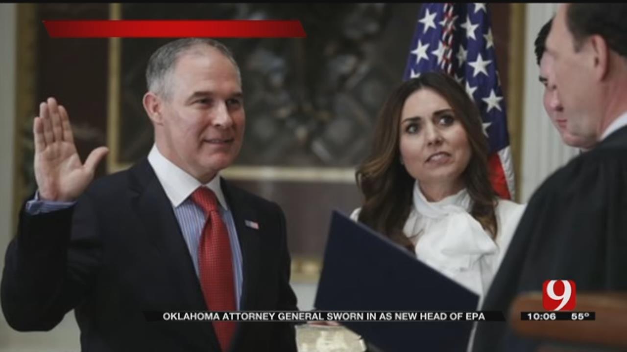 OK AG Scott Pruitt Sworn In As New Head Of EPA Amid Lawsuit