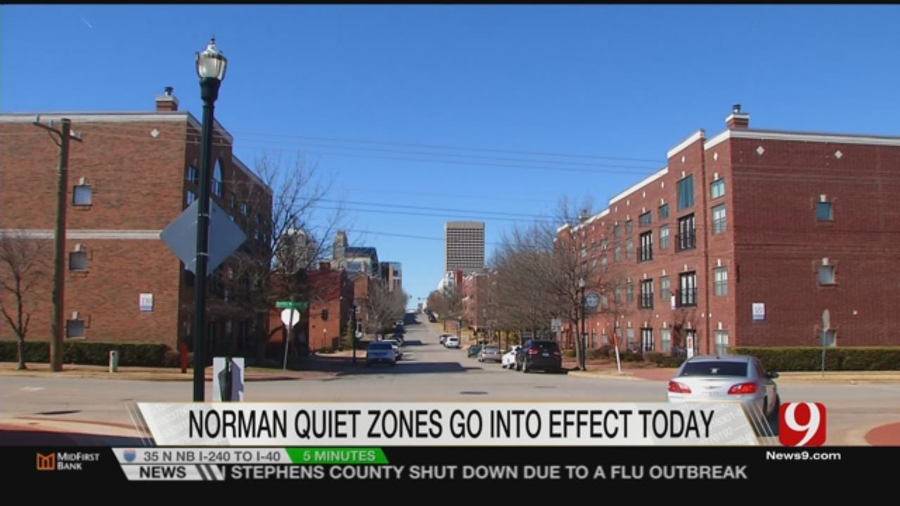 Norman City-Wide Train Quiet Zone Takes Effect Today