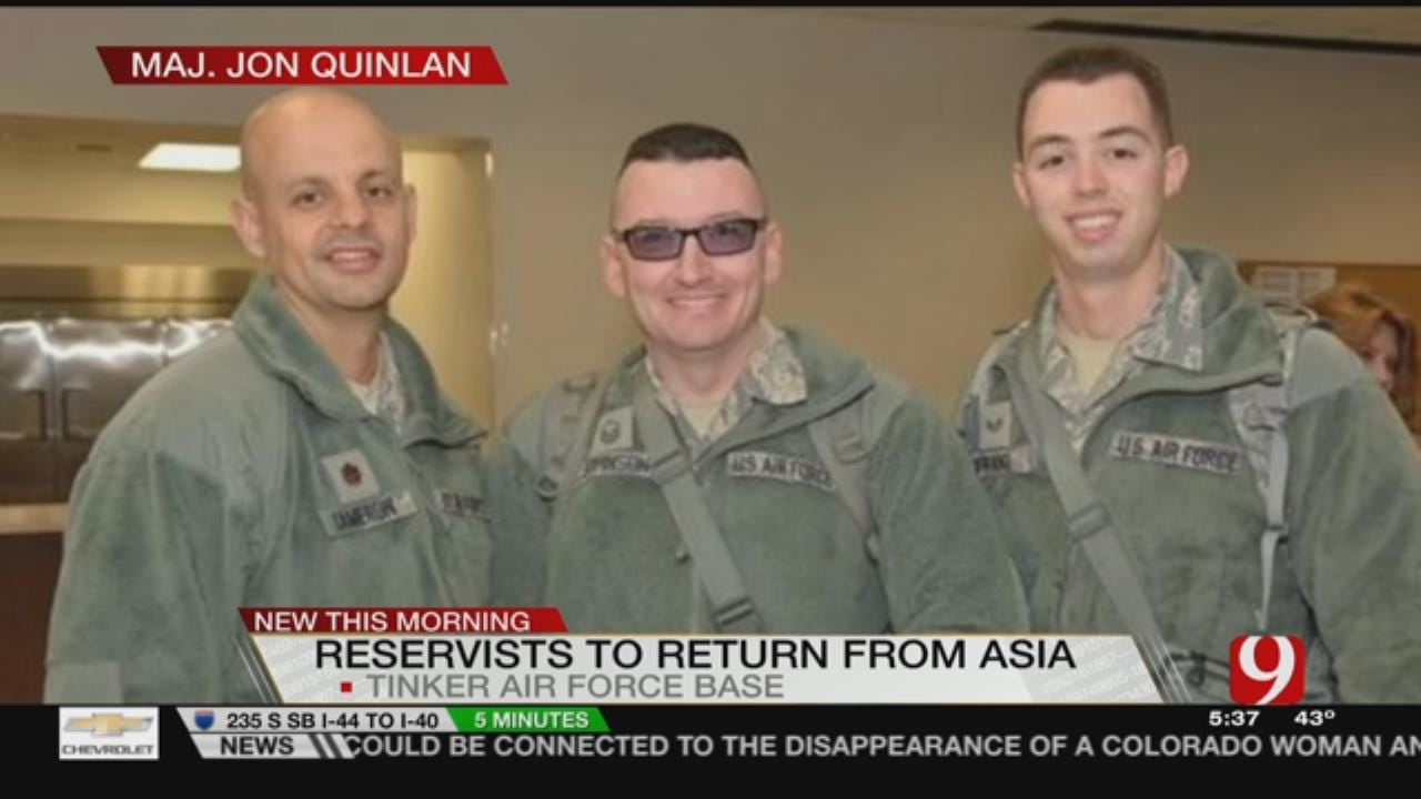 Reservists Return To Tinker After Two Months In Asia