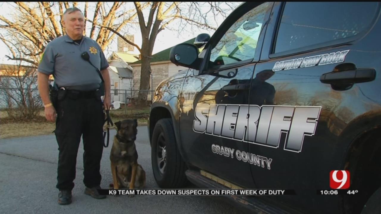 Grady Co. K9 Team Takes Down Suspects On First Week Of Duty