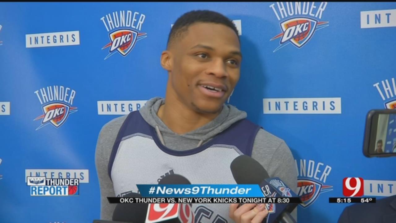 Thunder Host Knicks On Wednesday Night