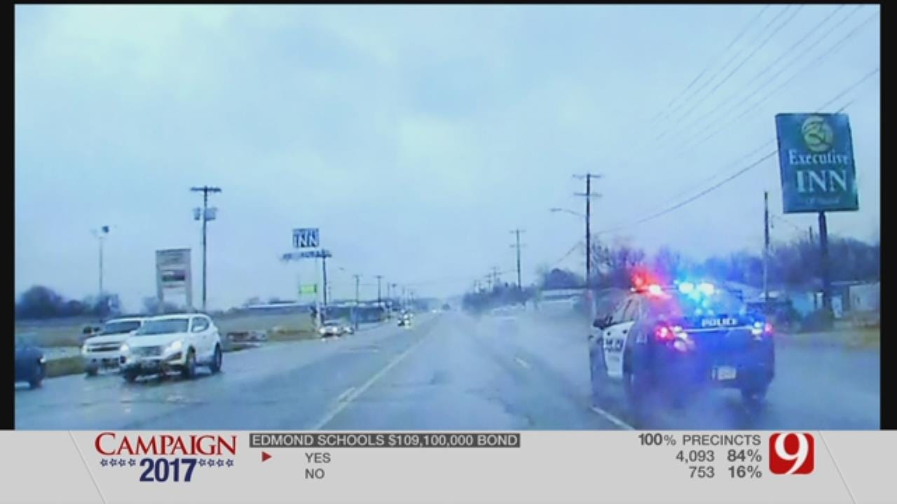 Dashcam Footage Shows McClain County Police Chase