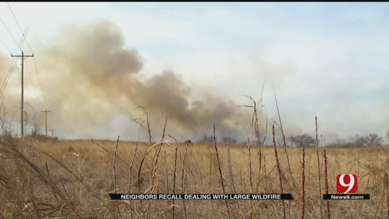 SE OKC Couple Grabs Hoses To Fight Wildfire