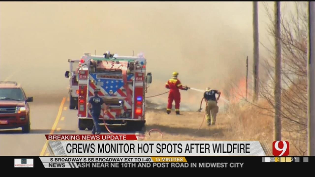 Wildfire Eats Almost 900 Acres Of SE OKC