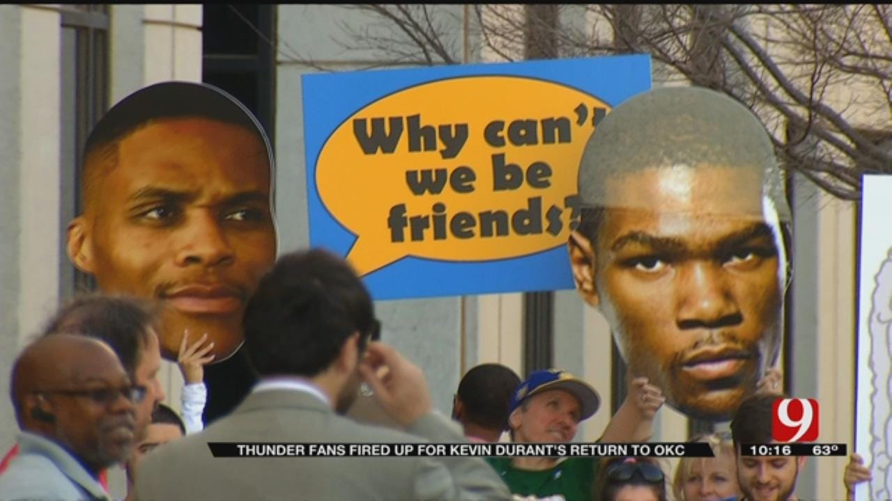 Durant's Return To OKC Sparks Rivalry Among Fans