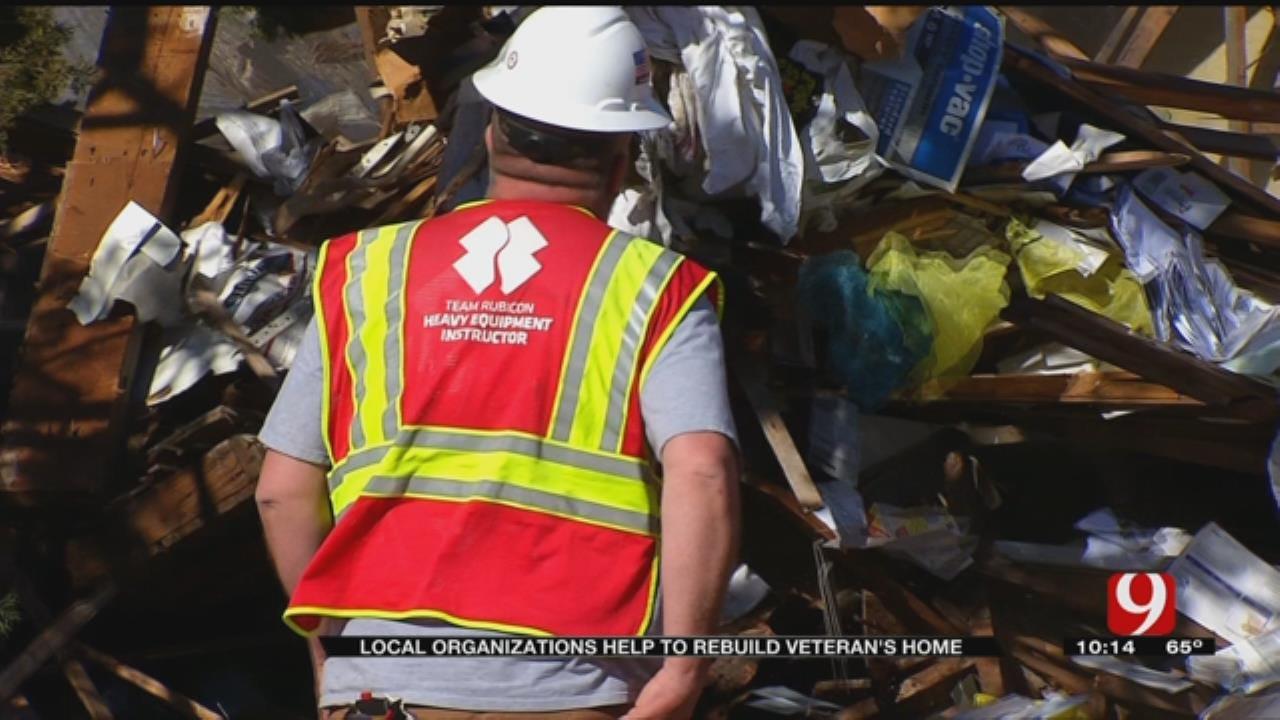 Local Organizations Help Rebuild Veteran's Home