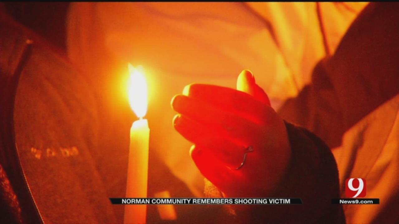 Candlelight Vigil Held For Norman Homicide Victim
