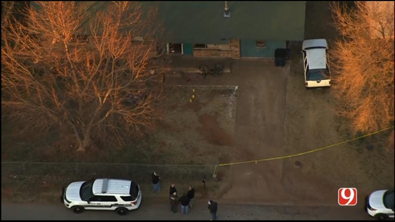 WEB EXTRA: Bob Mills SkyNews 9 HD Flies Over Anadarko Officer-Involved Shooting