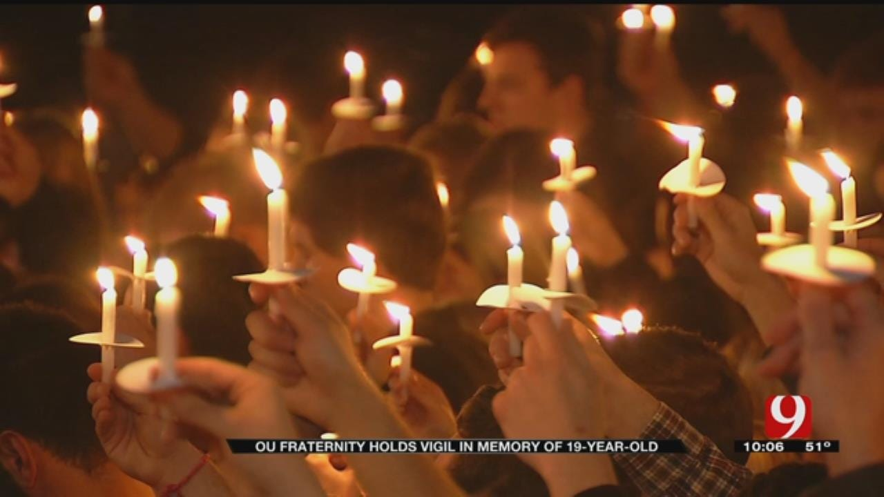 OU Fraternity Holds Vigil In Memory Of 19-Year-Old