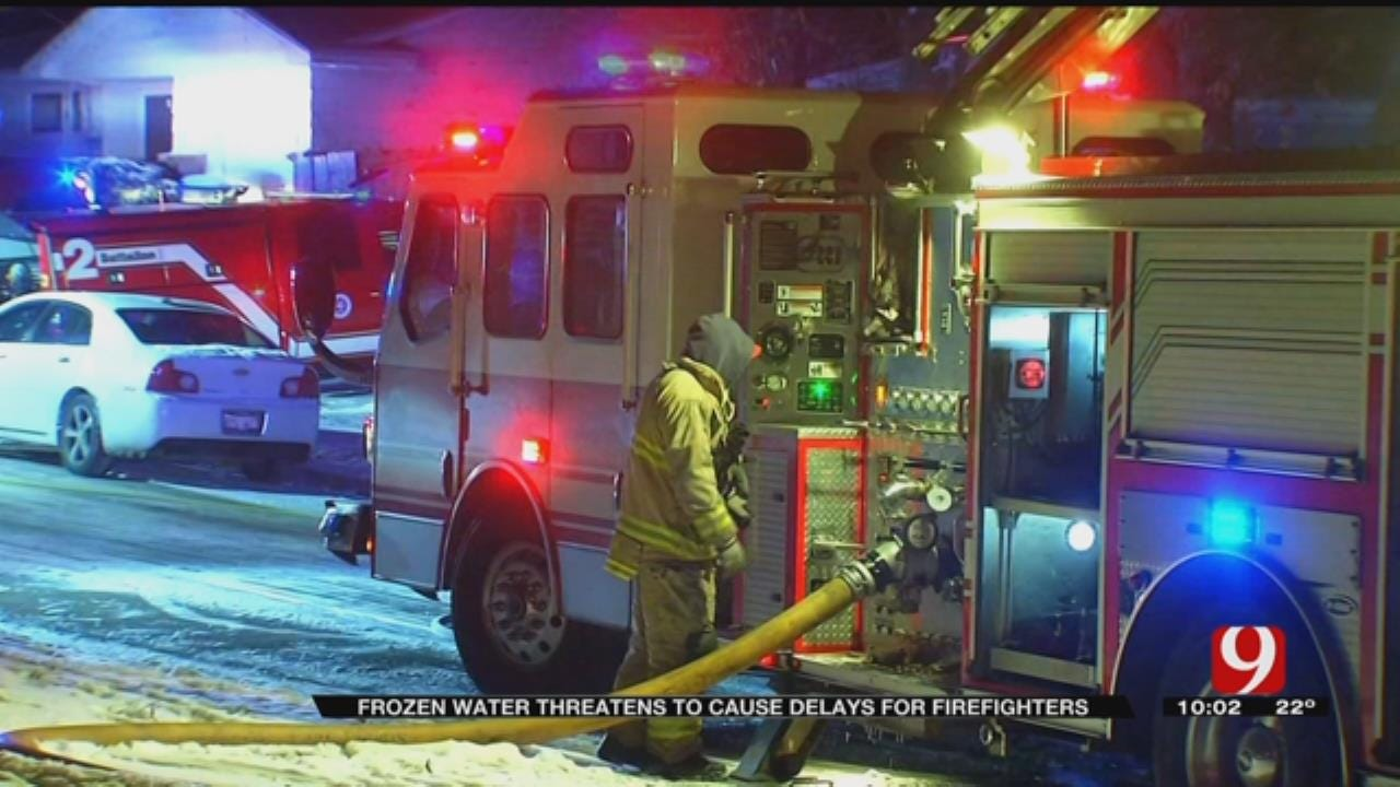 OKC Firefighters Take Extra Precautions In Subfreezing Temperatures