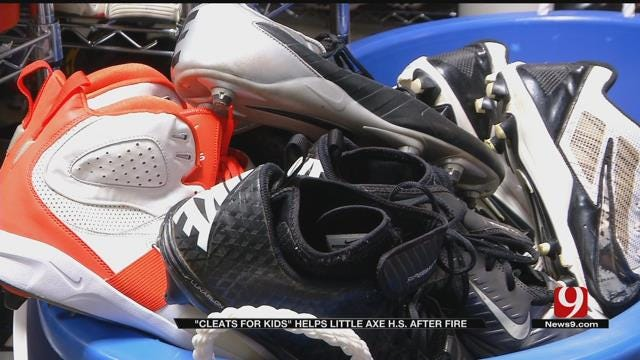 OK 'Cleats For Kids' Collecting Donations For Little Axe HS Football Team