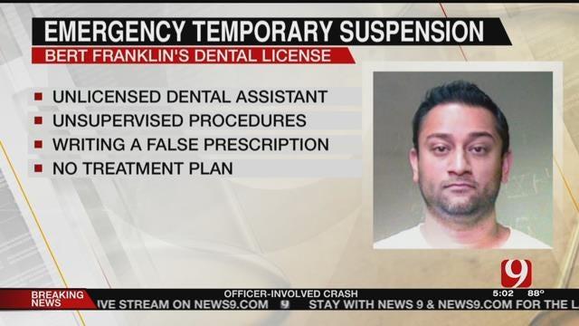 Board Of Dentistry Votes To Temporarily Suspend Bert Franklin's Dental License