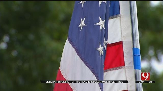 Veteran Upset After His Flag Is Stolen Multiple Times In Bethany