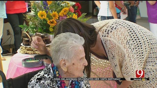 Harrah Woman, Oldest Living Oklahoman Turns 109